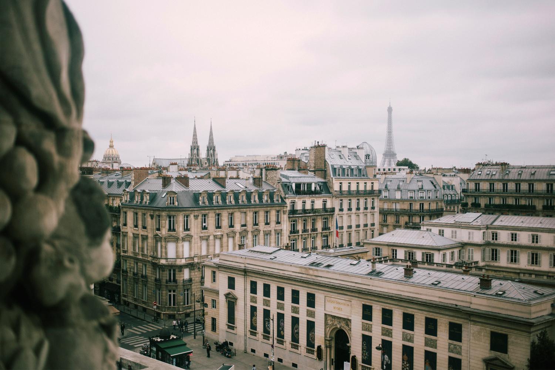 panorama de paris en automne