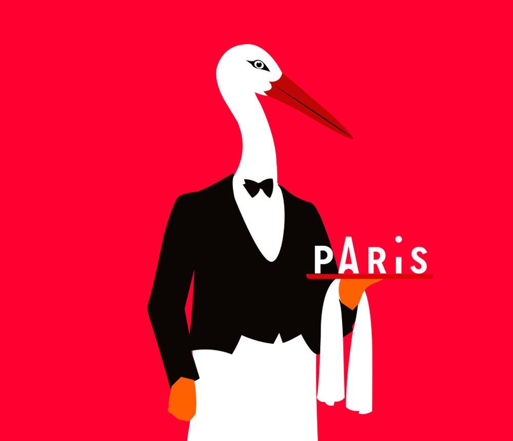 Города с лучшей Города с лучшей айдентикой paris tourisme bird illustration
