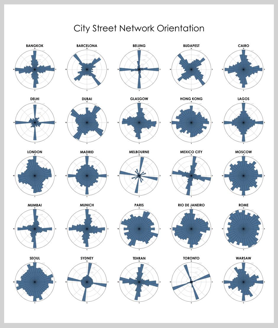 Карта дня: визуализация уличной сети городов Карта дня: визуализация уличной сети городов 0