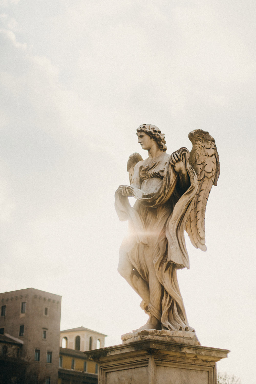 Культурные столицы Италии Культурные столицы Италии ines perkovic a simple hello angel bridge rome italy statue sun winter light