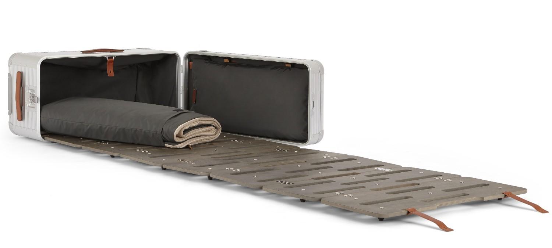 Дизайнер придумал чемоданы со встроенной кроватью и кухней Дизайнер придумал чемоданы со встроенной кроватью и кухней 10Bedstation Bank 04
