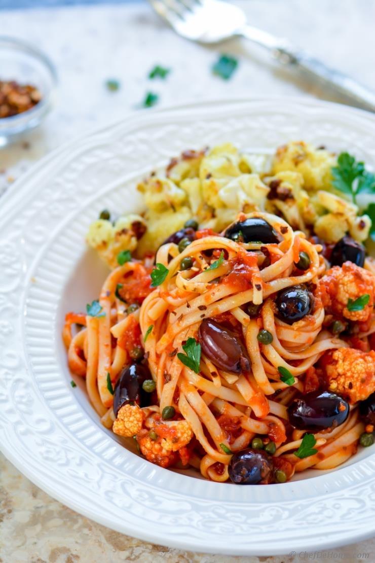 Гастрономические столицы Италии Гастрономические столицы Италии roasted cauliflower pasta puttanesca chefdehome 2